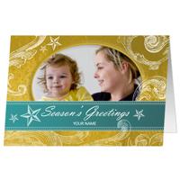 J3 Seasons Greetings Swirls & Stars set of 25 cards