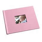 8.5 x 11 (HP) Pink Weave Photo Book with Window