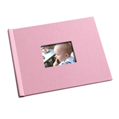 8.5 x 11  Pink  Butterfly Photo Book with Window