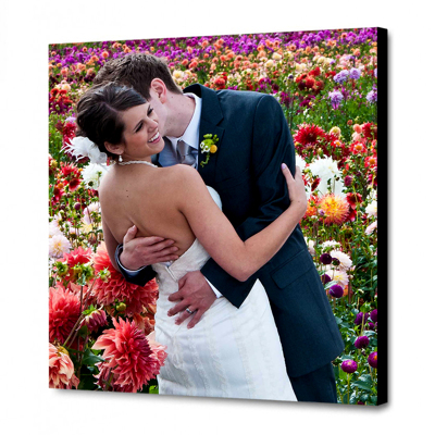 16 x 16 Canvas - 1.25 inch Black Wrap