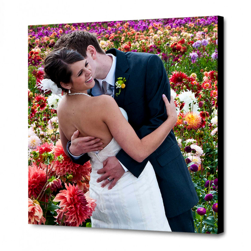 12 x 12 Canvas - 1.25 inch Black Wrap