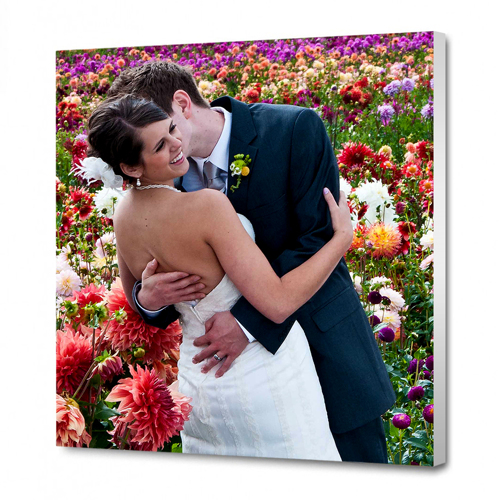 8 x 8 Canvas - 0.75 inch White Wrap