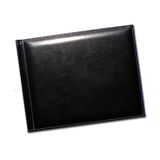 8.5 x 11 (Unibind) Padded Black Stitched Leather
