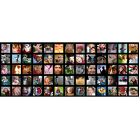 1000x400mm - 64 Photos Collage Photo Print