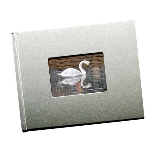 8.5 x 11 (Unibind) Metalic Silver with Window