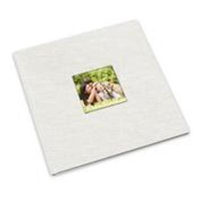 12 x 12 White Photo Book with Window