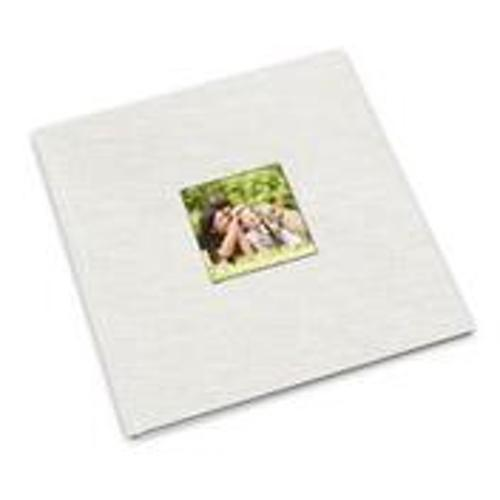 12 x 12 (HP) White Linen Photo Book with Window