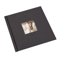 12 x 12  Black Cloth Window Photo Book