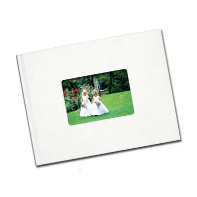 8.5 x 11 (Unibind) White Linen with window