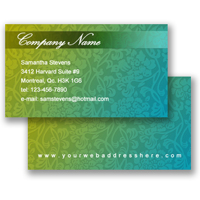 Business Card (Freestyle Layout 12)
