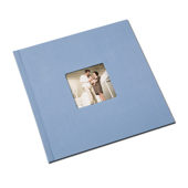 12 x 12 (HP) Baby Blue Linen Photo Book with Window