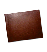 8.5 x 11 (Unibind) Brown Leather