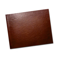 8.5 x 11 Brown Leather (Windowless)
