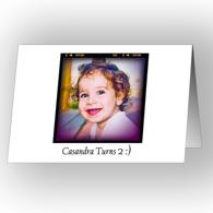 Carte de voeux 5 x 7 horizontale - pliée, recto-verso