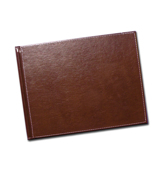 8.5 x 11 (Unibind) Brown Stitched Leather