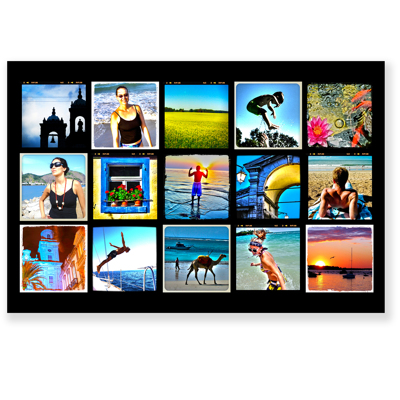 24 X 36 Collage With 15 Square Photos Camera Centre Gift