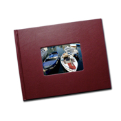 8.5 x 11 (Unibind) Bordo Leatherette with Window (1-2 Days)
