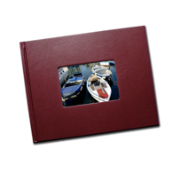 8.5 x 11 (Unibind) Bordeaux Leatherette with Window