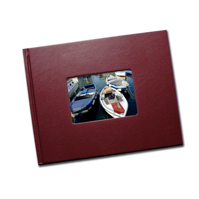 8.5 x 11 (Unibind) Bordo Leatherette with Window
