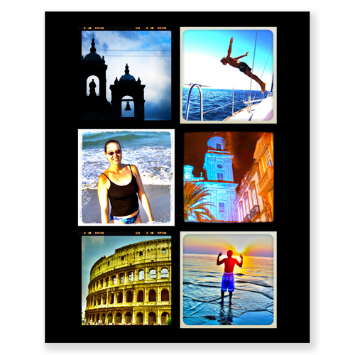 8 x 10 collage with 6 square photos (clone)