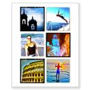 Collage avec 6 photos carrées - 16 x 20