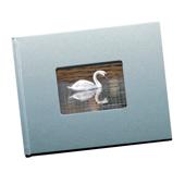 8.5 x 11 (Unibind) Metalic Blue with Window