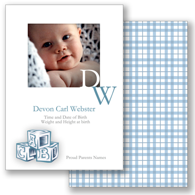 Baby Blocks A - Blue