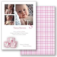 Baby Blocks B - Pink