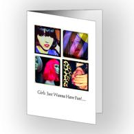 Carte de voeux 5 x 7 verticale - pliée, recto-verso