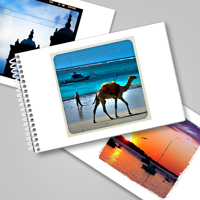 4x6 Flip Book - White Square Frame