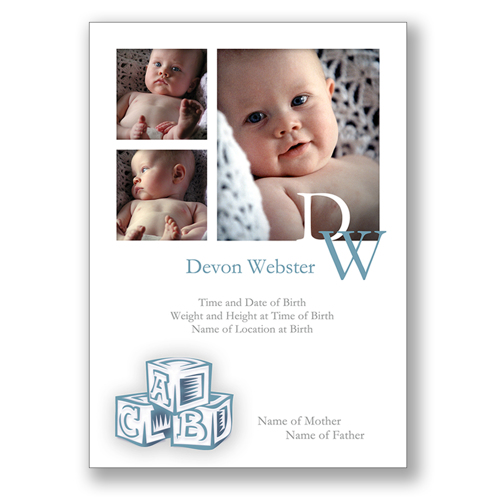 Baby Blocks B - Blue