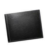 8.5 x 11 (Unibind) Black Stitched Leather