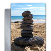 4x6 White Gloss Metal Print Vertical #6024