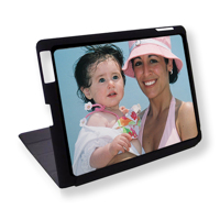 iPad 1-4 Black Magnetic Cover Horizontal