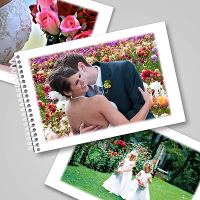 4x6 Hor Flip Book - Soft White Frame