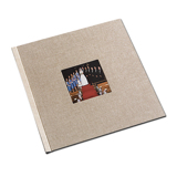 12 x 12 (HP) Natural Linen Photo Book with Window
