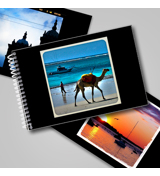 Flip Book - Black with Square Frame