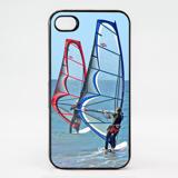 iPhone 4 - Black Plastic Thin Bumper Case