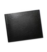8.5 x 11 (Unibind) Black Leather