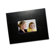 8.5 x 11 (Unibind) Black Leatherette with Window (1-2 Days)