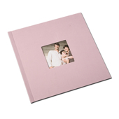 12 x 12 (HP) Pink Weave Photo Book with Window