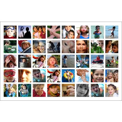 """11"""" x 17"""" collage 40 photos white border"""