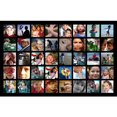 "11"" x 14"" collage 40 photos black border"
