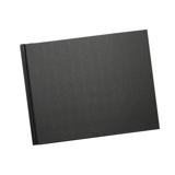 8.5 x 11 (Unibind) Black Linen