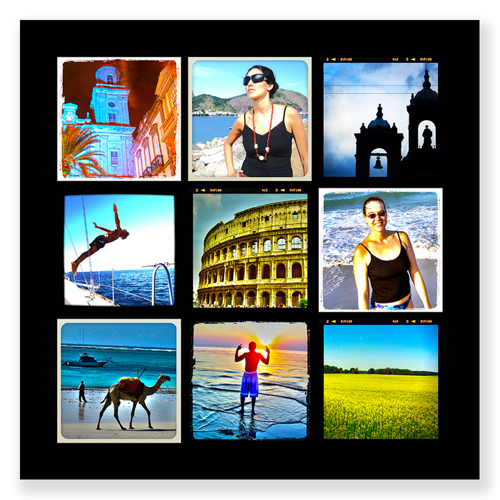 20 x 20 collage with 9 square photos