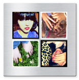 "10x10"" Single Layer HD Metal 4 Square Photos"