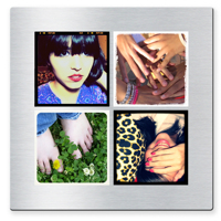 10 x 10 collage with 4 square photos