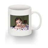 White 15 oz Mug with 1 Image, Right Handed