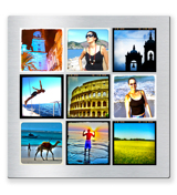 8 x 8 Metal Collage with 9 square photos