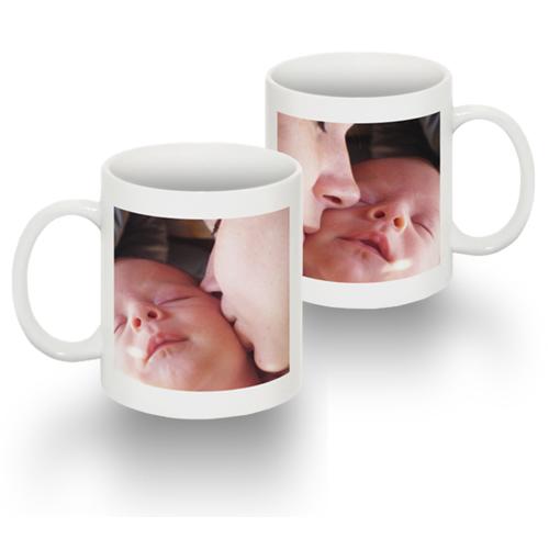 Standard 15 0z Mug with 1 image both sides (white mug w/ black interior)